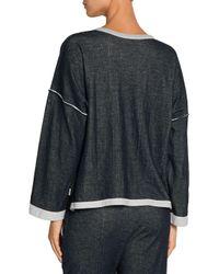 Skin - Cotton-gauze Pajama Top Storm Blue - Lyst