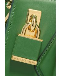 Michael Kors - Green Leather Tote - Lyst