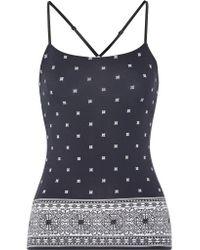 Cosabella | Black Jolene Printed Stretch-jersey Camisole | Lyst