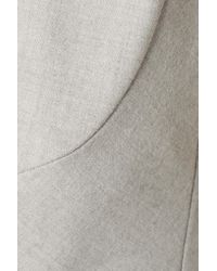 10 Crosby Derek Lam - Gray Ruffled Layered Jersey And Broadcloth Top - Lyst