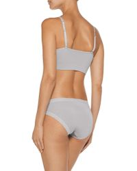 Yummie By Heather Thomson   Gray Darcy Convertible Stretch-jersey Soft-cup Bra   Lyst
