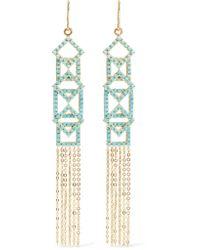 Noir Jewelry - Metallic Gold-tone Stone Earrings - Lyst