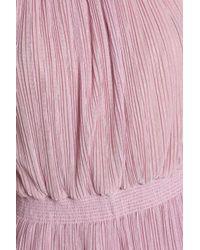 Just Cavalli - Metallic Plissé-georgette Gown Baby Pink - Lyst