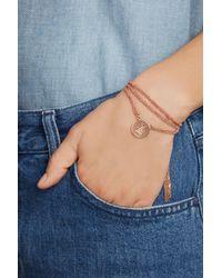 Carolina Bucci - Pink Baby Girl 18-karat Rose Gold, Silk And Diamond Necklace - Lyst