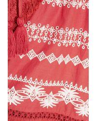 Rachel Zoe - Multicolor Karlene Tasseled Embroidered Cotton-gauze Shorts - Lyst