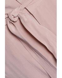Joie - Pink Asuka Washed-silk Straight-leg Pants - Lyst