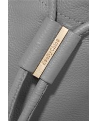 See By Chloé - Gray Vicki Textured-leather Bucket Bag - Lyst