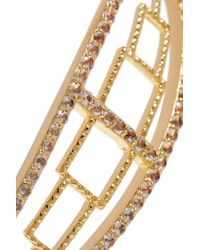 Elizabeth and James - Metallic Kota Gold-plated Topaz Cuff - Lyst