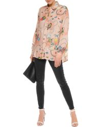 Love Moschino - Multicolor Printed Twill Top - Lyst