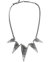 Alexis Bittar | Metallic Gunmetal-tone Swarovski Crystal Necklace | Lyst