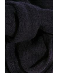 Totême  - Blue Vervier Ribbed Merino Wool And Cashmere-blend Scarf - Lyst