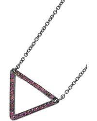 Ileana Makri - Metallic 18-karat White Gold Diamond Necklace - Lyst