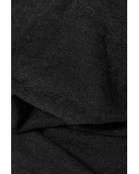 Monrow - Black Marled Jersey T-shirt - Lyst