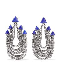 Elizabeth Cole | Metallic Raakel Gunmetal-tone Stone And Crystal Earrings | Lyst