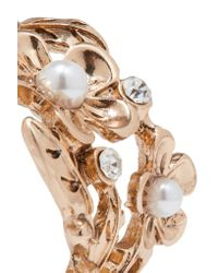Kenneth Jay Lane - Metallic Gold-tone Crystal And Faux Pearl Earrings - Lyst