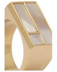 Aurelie Bidermann - Metallic Bianca Gold-plated Mother-of-pearl Ring - Lyst