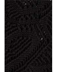 Emilio Pucci | Black Crocheted Cotton Shorts | Lyst