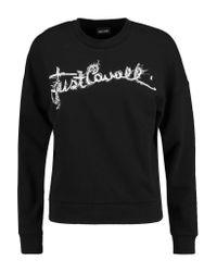 Just Cavalli - Black Printed Cotton-blend Jersey Sweatshirt - Lyst