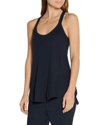 Skin - Blue Racer-back Cotton-jersey Pajama Top - Lyst