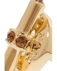 Marc By Marc Jacobs - Metallic Toggle Gold-tone Crystal Ring - Lyst