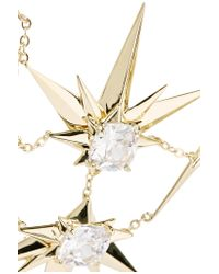 Noir Jewelry - Metallic Orionis Gold-tone Crystal Necklace - Lyst
