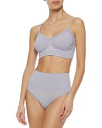 Yummie By Heather Thomson - Purple Lace-trimmed Stretch-jersey Bralette - Lyst
