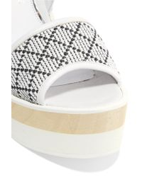 Paloma Barceló - White Juanita Woven Leather Wedge Sandals - Lyst