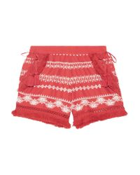 Rachel Zoe   Multicolor Karlene Tasseled Embroidered Cotton-gauze Shorts   Lyst