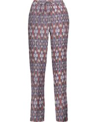 Joie | Multicolor Kira Printed Washed-silk Tapered Pants | Lyst