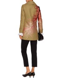 Valentino - Natural Embroidered Linen-blend Twill Coat - Lyst