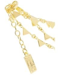 Arme De L'Amour - Metallic Triangle Gold-plated Anklet - Lyst