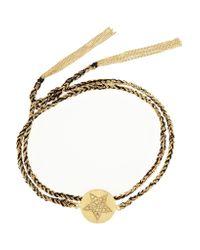 Carolina Bucci - Black Health Lucky 18-karat Gold, Diamond And Silk Charm Bracelet - Lyst