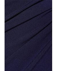 By Malene Birger | Blue Wafinni Ruched Stretch-crepe Midi Dress | Lyst