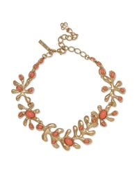 Oscar de la Renta | Metallic Sea Tangle Gold-tone Resin Necklace | Lyst