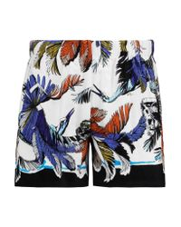 Emilio Pucci | White Printed Terry Shorts | Lyst