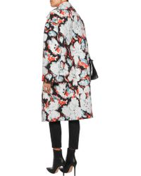 MSGM - Multicolor Oversized Printed Wool And Silk-blend Twill Coat - Lyst