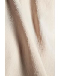 Brunello Cucinelli - Natural Chain-trimmed Asymmetric Silk-blend Top - Lyst