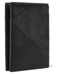 Diane von Furstenberg | Black Calf Hair Passport Cover | Lyst