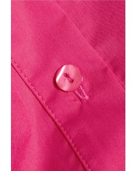 Carven - Pink Embroidered Cotton-poplin Shirt - Lyst
