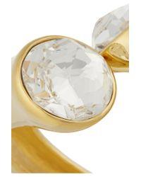 Kenneth Jay Lane | Metallic Gold-plated Crystal Bracelet | Lyst