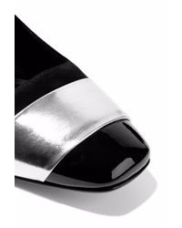 Casadei - Black Tiffany Metallic And Patent Leather-trimmed Suede Pumps - Lyst