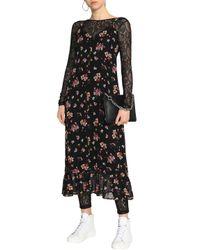 MSGM - Woman Chantilly Lace Bodysuit Black - Lyst