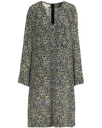 Marni - Black Printed Silk Dress - Lyst