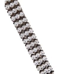 Elizabeth Cole - Metallic Gunmetal-tone Crystal Necklace - Lyst