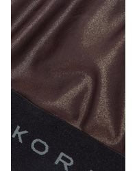 Koral - Brown Woman Dare Cutout Coated Stretch Sports Bra Chocolate - Lyst