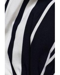 Heidi Klein - Blue Woman Bow-detailed Striped Bandeau Bikini Top Navy Size Xs - Lyst