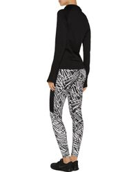 Yummie By Heather Thomson - Black Paneled Stretch-jersey Jacket - Lyst