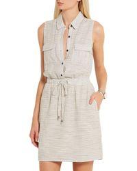 Splendid - Gray Marina Striped Woven Shirt Dress - Lyst