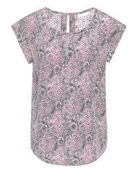 Joie - Pink Printed Silk Top - Lyst