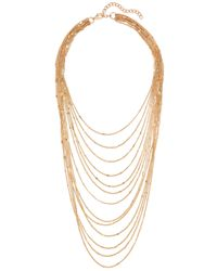 Kenneth Jay Lane | Metallic Gone-tone Necklace | Lyst